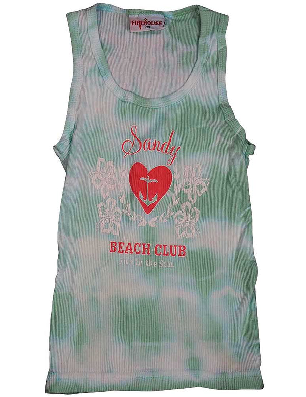 Firehouse - Little Girls' Tie Dye Ribbed Tank