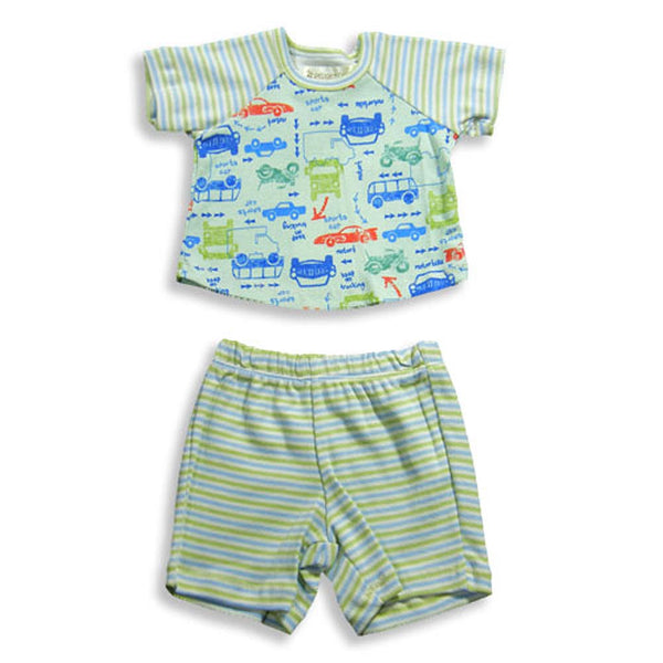 Pepper Toes by Baby Lulu - Baby Boys Short Sleeve Cars Short Set