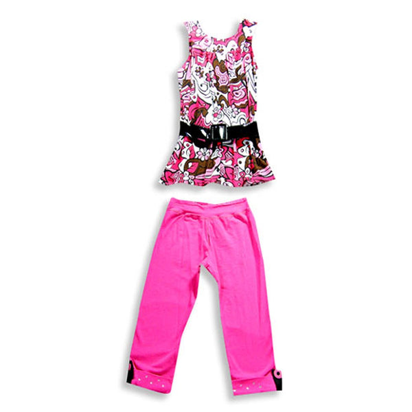 Rubbies - Little Girls' Sleeveless Capri Set