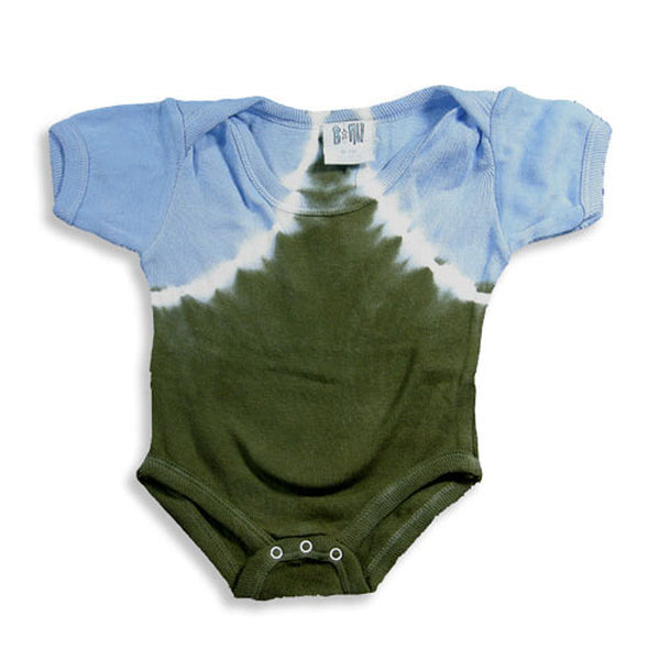 B Nu - Baby Boys Short Sleeve Tie Dye Body Suit