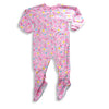 Carters Watch Your Wear - Little Girls' Blanket Sleeper, Pink, Mint, Yellow - Runs 2 sizes small 19862-4