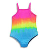 Happy Kids - Little Girls' One Piece Tie Dyed Bathing Suit Runs 2 Sizes Small