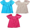 So Nikki Girl's Short Sleeve T-Shirt Baby Doll Shirt Top - 3 Colors, 21637