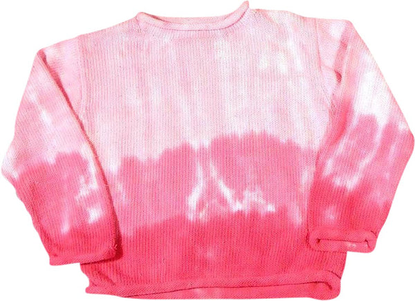 Zinnias - Little Girls' Long Sleeve Dip Dyed Sweater