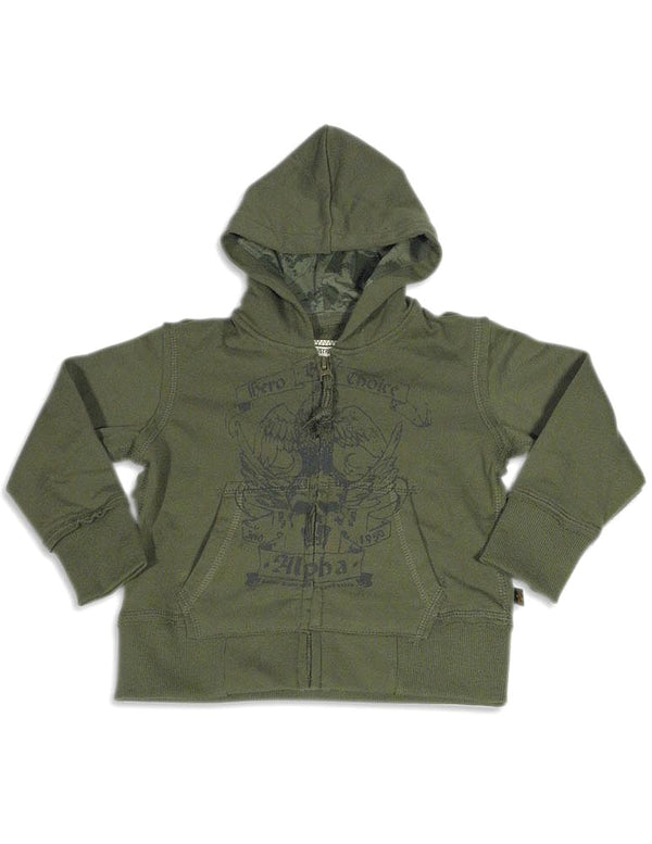 Alpha Industries - Little Boys Long Sleeve Zip Hoodie Sweatshirt Jacket