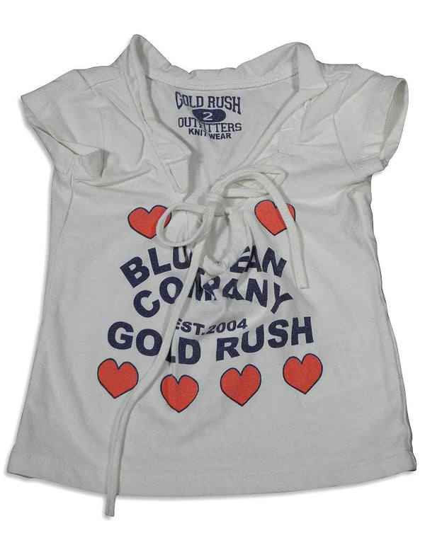 Gold Rush Outfitters - Little Girls Short Sleeve Ruffle Shirt