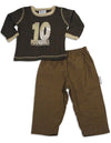 Mis Tee V-Us - Baby Boys Long Sleeve Pant Set