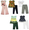 Mish Mish Little Girls 2 Piece Short Sleeve and Sleeveless Pant Sets, 26689