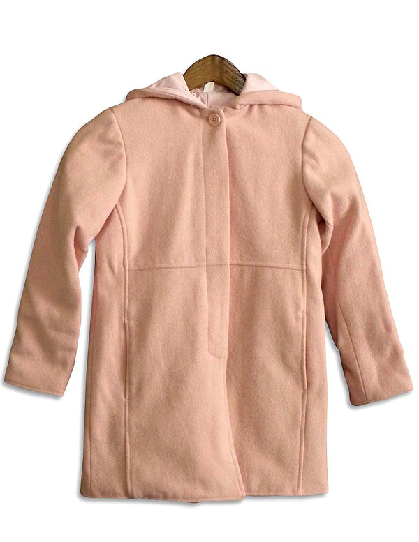 Outeredge - Big Girls' Reversible Hooded Dress Coat