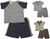 Mish Mish Baby Boys Newborn Infant Cotton Short Sleeve Short Sets, 28948