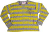 Purple Orchid - Little Girls' Long Sleeve Crop Striped Top