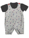 Snopea - Baby Boys Puffs In The Sky Shortall, White, Black 29677-18Months