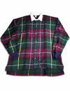 High Profile - Slightly Irregular Mens Long Sleeve Plaid Rugby Shirt