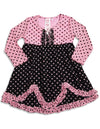 Me Me Me by Lipstik - Baby Girls Long Sleeve Polka Dot Dress