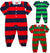 Sara's Prints Baby Infant Toddler Boys One Piece Rugby Coverall Playsuit Pajama, 29826