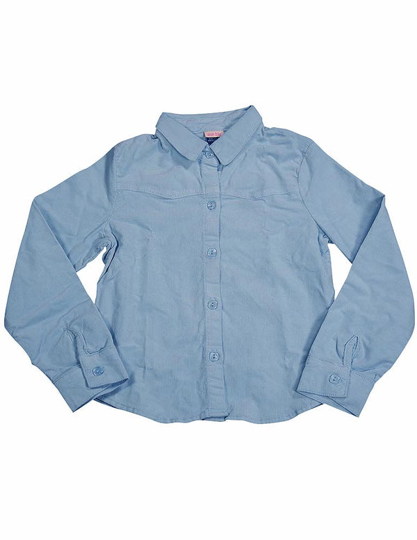 Ave.blu - Little Girls' Long Sleeved Button Down Corduroy Top
