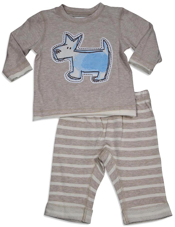 Pepper Toes - Baby Boys Long Sleeve Turtle Pant Set
