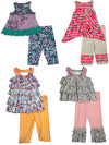 Baby Sara Infant Baby Girl Sleeveless Pant Sets - Asst Fabrics Styles Colors, 30673