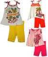 Baby Sara Infant Baby Girl Sleeveless Short Sets - Asst Fabrics Styles Colors, 30674