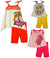 Baby Sara Toddler & Girls Tank Short Sets - Assorted Fabrics Styles Colors, 30679