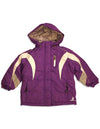 Rugged Bear - Little Girls' Plaid Hooded Winter Jacket