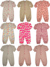 New Potato Baby Infant Girls Long Sleeve Cotton Coverall - 9 Fun Prints Availabl, 30944