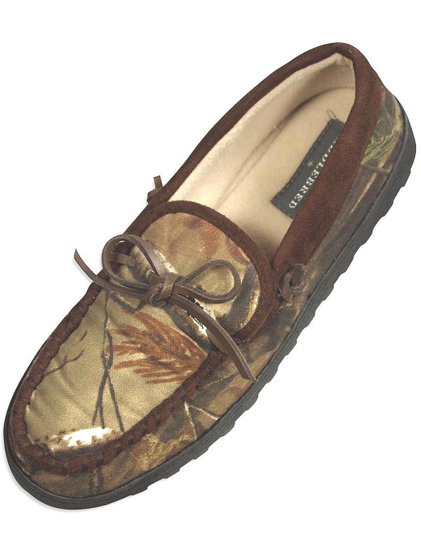 Realtree - Mens Saddlebred Camouflage Moccasin Slipper