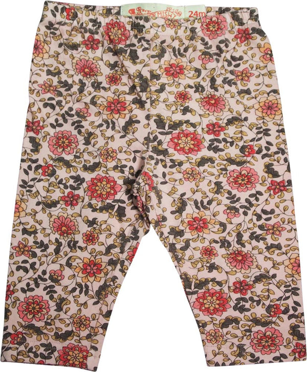 Mish - Baby Girls - 100% Cotton - Floral Capri Pants