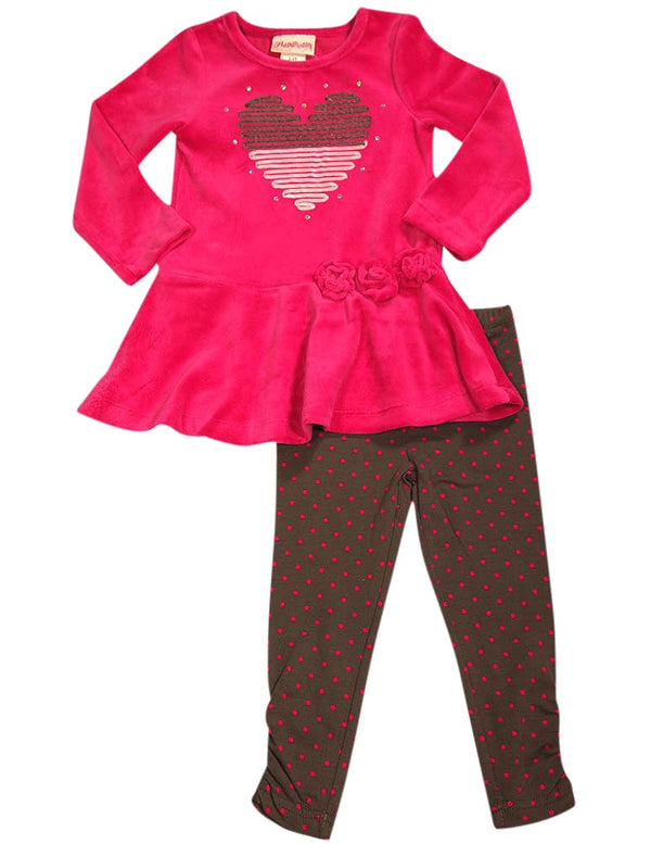 Flapdoodles - Little Girls Striped Long Sleeve Pant Set