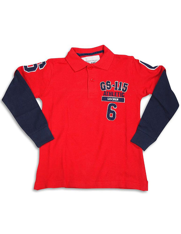 GS-115 - Little Boys Long Sleeve Polo Top