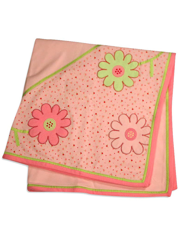Little Me - Baby Girls Floral Receiving Blanket
