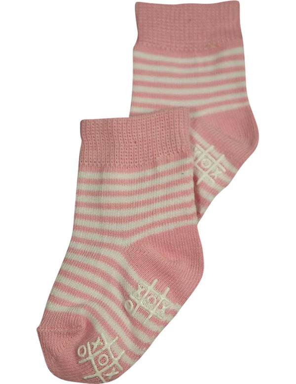 Tic Tac Toe Girls Striped Ankle Sock