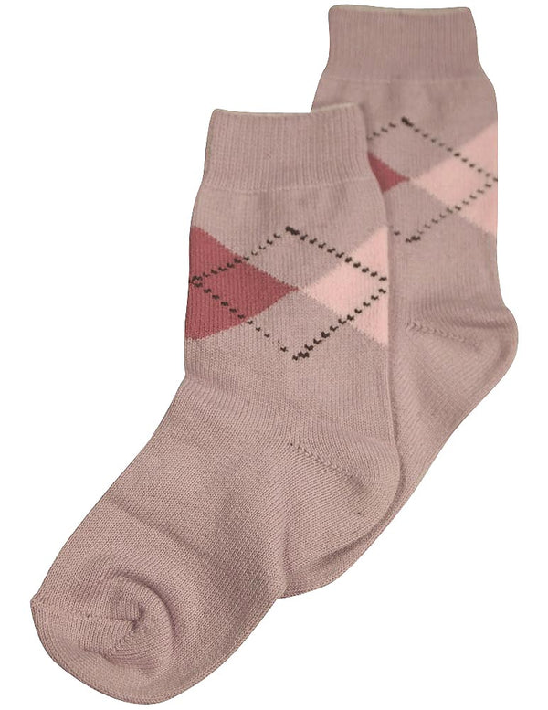 Tic Tac Toe - Little Girls' Argyle Sock