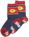 Tic Tac Toe Girls Sunflower Sock
