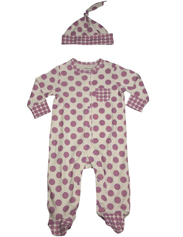 Offspring - Baby Girls Long Sleeve Coverall and Hat