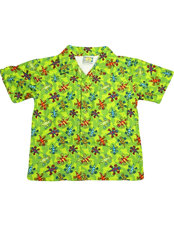 Max and Otto - Boys Short Sleeved Cover-up, Royal, Lime 4765