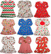 Sara's Prints Toddler Girls Long Sleeve Gown Multi Prints Ruffle Flame Resistant, 32735