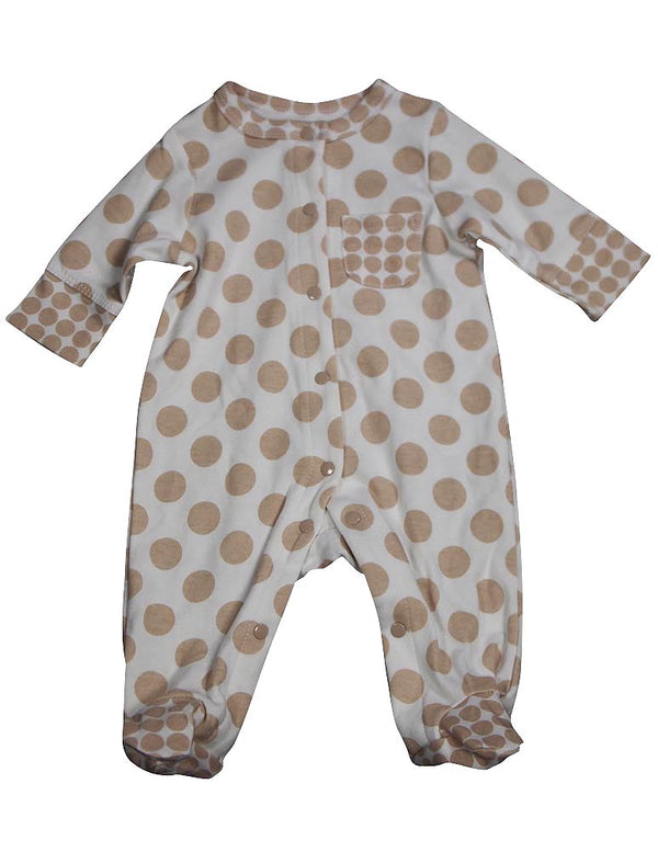 Offspring - Baby Boys Long Sleeve Footed Coverall