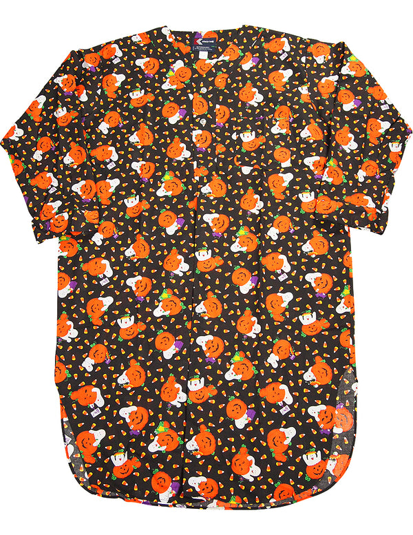 Knothe - Mens Long Sleeve Halloween Broadcloth Nightshirt