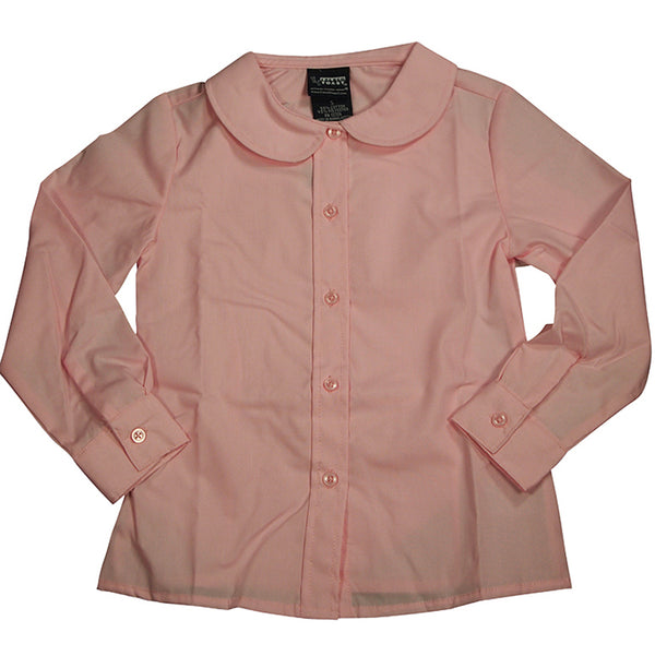 French Toast Uniform Toddler Girls Long Sleeve Feminine Fit Peter Pan Blouse, 33406