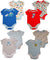 Happi by Dena Baby Boys Newborn One Piece Short Sleeve Bodysuit 2 Piece Set, 34824