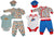 Happi by Dena Baby Boys Newborn 4 Piece Bodysuit Cardigan Pant and Hat Set, 34835