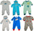 Happi by Dena Baby Boys Newborn One Piece Long Sleeve Footed Coverall, 34840