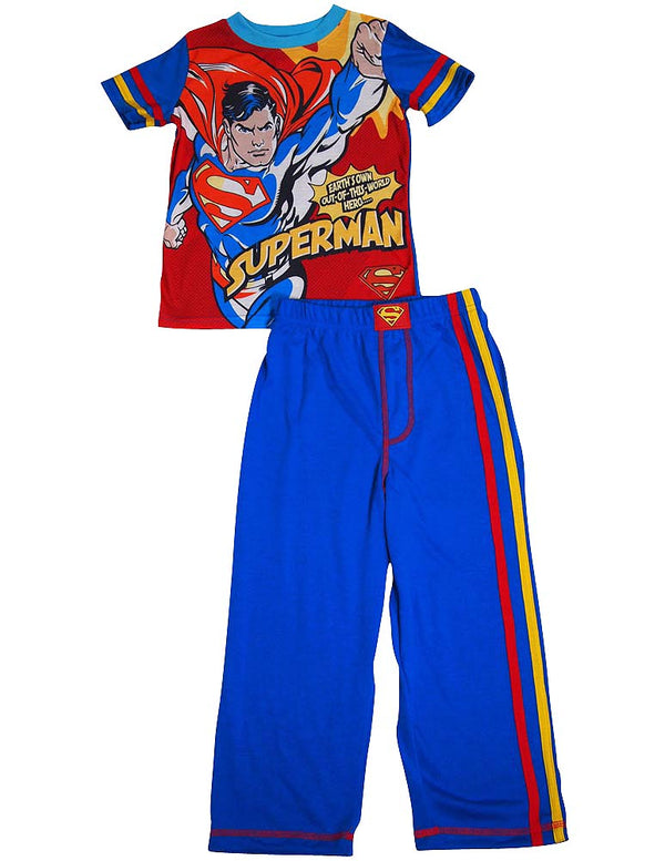 Superhero - Little Boys Short Sleeve Long Leg Pajamas