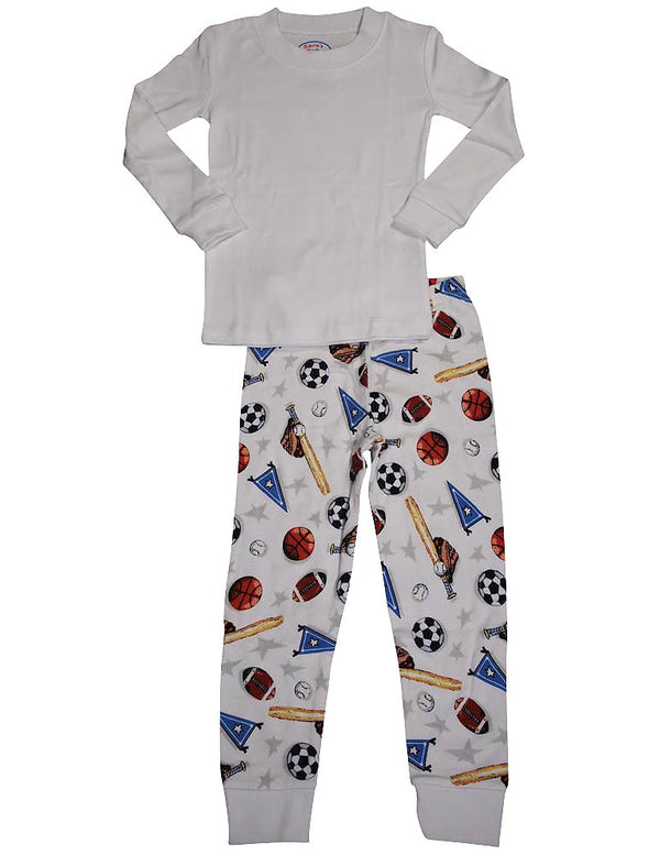 Sara's Prints - Little Boys LS Long John Pajamas