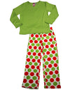 Up Past 8 by Sara's Prints - Little Girls Long Sleeve Pajamas