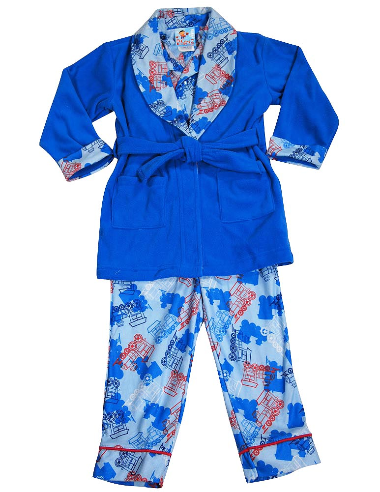 90b5c9861 Bunz Kidz - Baby Boys 3 Piece Robe and Pajama Set - ShopBCClothing