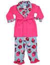 Bunz Kidz - Baby Girls 3 Piece Robe and Pajama Set