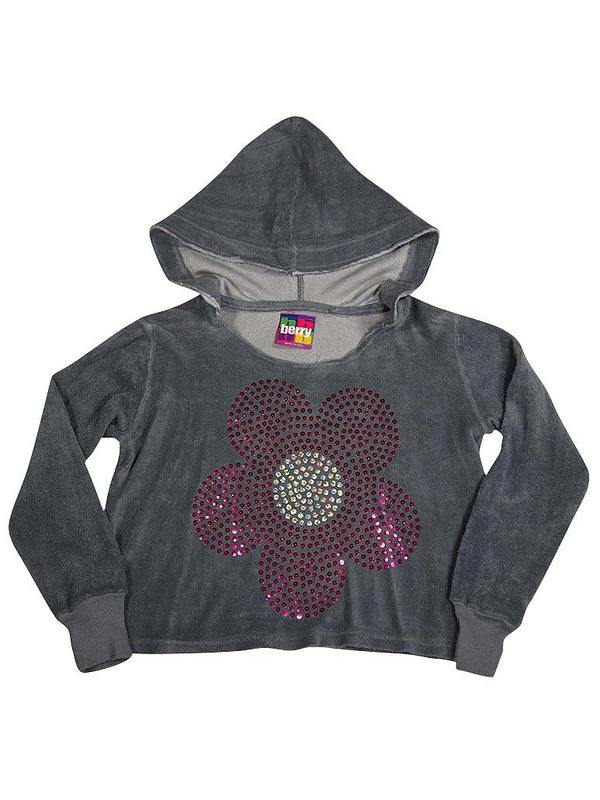 Berry - Little Girls Long Sleeve Hoodie Terry Top