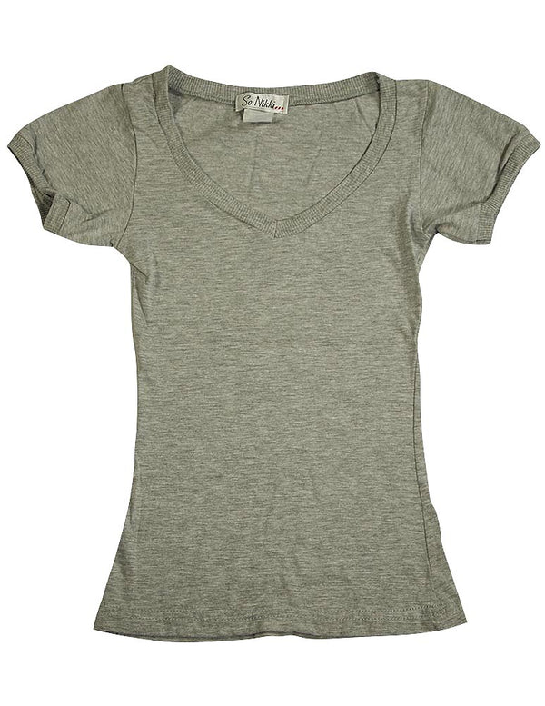 So Nikki - Big Girls Short Sleeve V-Neck Top